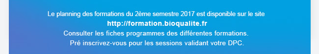 planning des formations